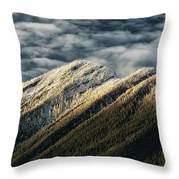 Mount Higgins Clouds Throw Pillow