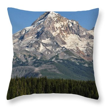 Mount Hood Above Lost Lake Throw Pillow
