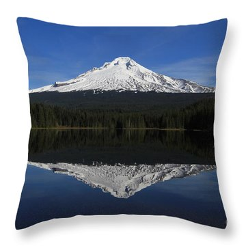 Mount Hood Throw Pillow