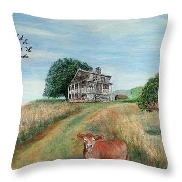 Mount Hope Plantation Throw Pillow