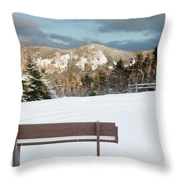 Mount Huntington - White Mountains New Hampshire  Throw Pillow by Erin Paul Donovan