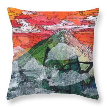 Mount Improbable Throw Pillow by Jessica Browne-White