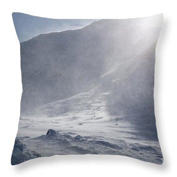 Mount John Quincy Adams - White Mountains Nh Throw Pillow by Erin Paul Donovan