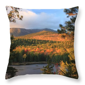 Katahdin In Autumn Throw Pillow