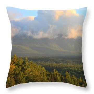Mount Katahdin Morning Throw Pillow