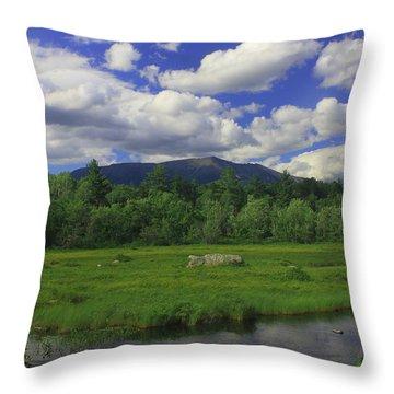 Mount Katahdin Summer Throw Pillow