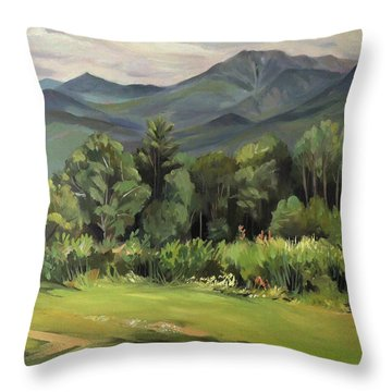 Mount Lafayette From Sugar Hill New Hampshire Throw Pillow