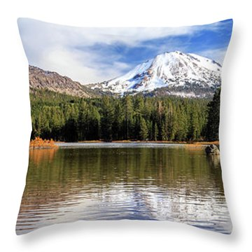 Throw Pillow featuring the photograph Mount Lassen Autumn Panorama by James Eddy