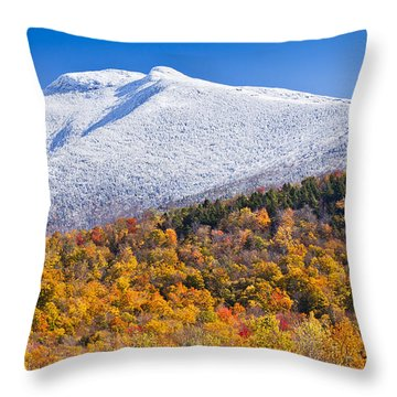 Mount Mansfield Seasonal Transition Throw Pillow