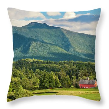 Mount Mansfield Summer View Throw Pillow