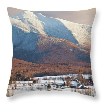 Mount Mansfield Winter Afternoon Throw Pillow