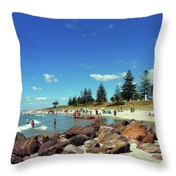 Mount Maunganui Beach 6 - Tauranga New Zealand Throw Pillow