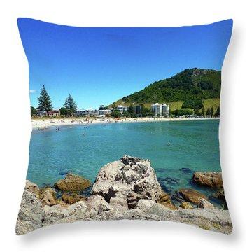Mount Maunganui Beach 8 - Tauranga New Zealand Throw Pillow