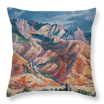 Mount Olympus In Autumn  Throw Pillow