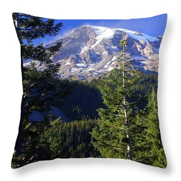 Mount Raineer 1 Throw Pillow by Marty Koch