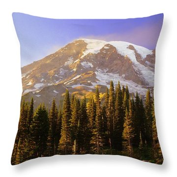 Mount Raineer 2 Throw Pillow by Marty Koch