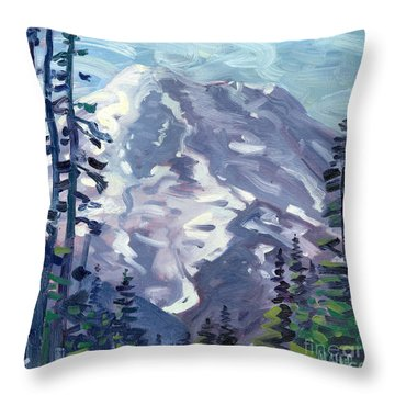 Mount Rainier From Sunrise Point Throw Pillow by Donald Maier