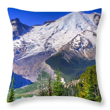 Mount Rainier IIi Throw Pillow