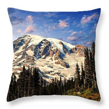 Mount Ranier Throw Pillow