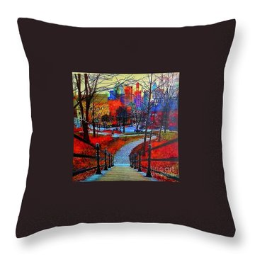 Mount Royal Peel's Exit Throw Pillow by Marie-Line Vasseur