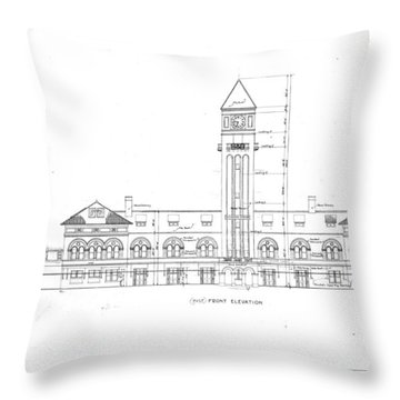 Mount Royal Station Throw Pillow