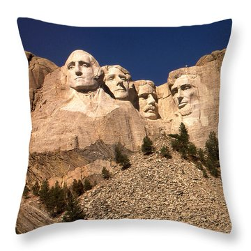 Mount Rushmore National Monument South Dakota Throw Pillow