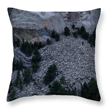 Mount Rushmore Throw Pillow