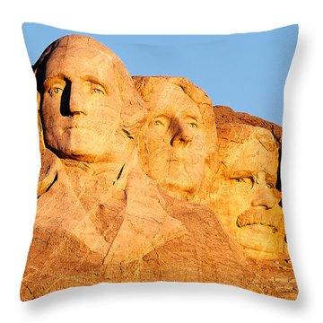 Mount Rushmore Throw Pillow by Todd Klassy