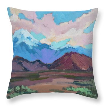 Throw Pillow featuring the painting Mount San Gorgonio by Diane McClary