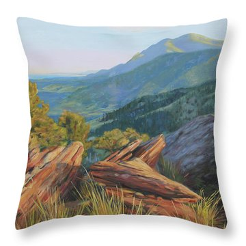 Mount Sanitas, Late Afternoon Throw Pillow