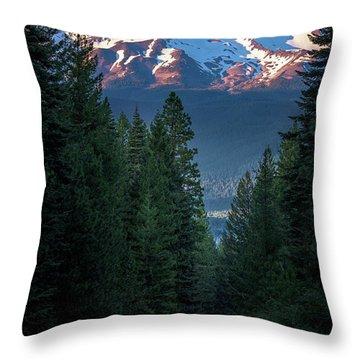 Mount Shasta - A Roadside View Throw Pillow