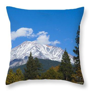Mount Shasta California Throw Pillow