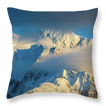 Mount Shuksan Dusk Details Throw Pillow
