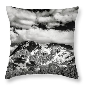 Throw Pillow featuring the photograph Mount Shuksan Under Clouds by Jon Glaser