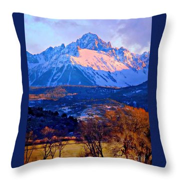 Mount Sneffels  Throw Pillow by Annie Gibbons