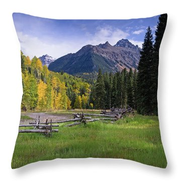 Mount Sneffels In Autumnn Throw Pillow