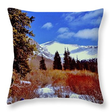 Mount St Vrain  Throw Pillow