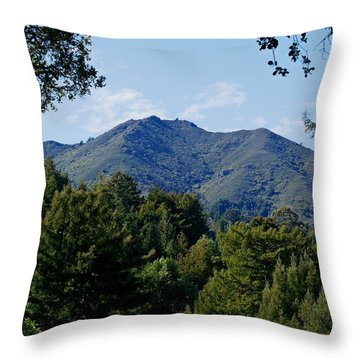 Throw Pillow featuring the photograph Mount Tamalpais by Ben Upham III