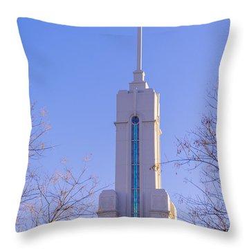 Mount Timpanogos Spire Throw Pillow
