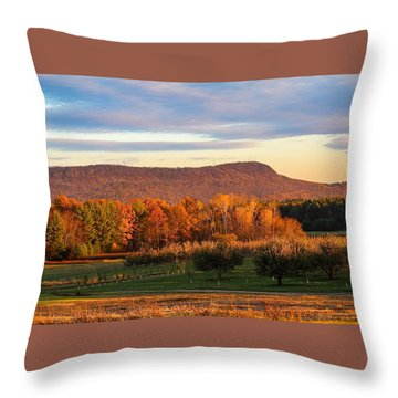 Mount Tom Foliage View Throw Pillow