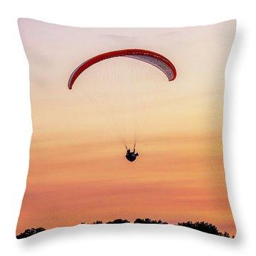 Mount Tom Parachute Throw Pillow