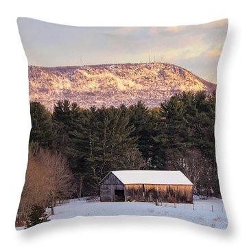 Mount Tom View From Southampton Throw Pillow