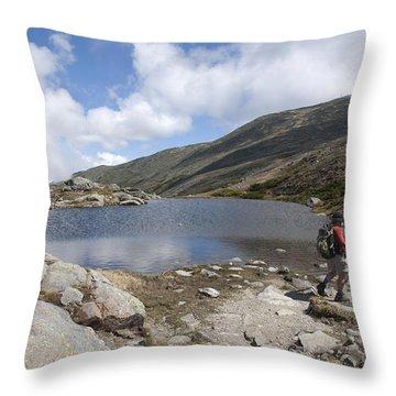 Mount Washington - New Hampshire Usa Lakes Of The Clouds Throw Pillow