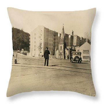 Throw Pillow featuring the photograph Mount Washington Church  by Cole Thompson
