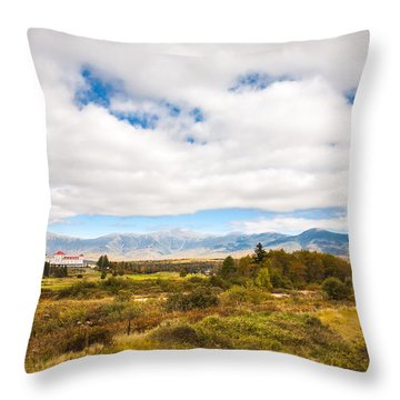 Mount Washington Hotel Throw Pillow