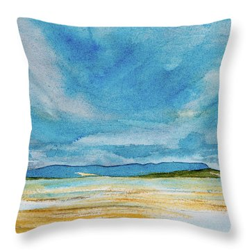 View Of Mount Wellington From South Bruny Island Throw Pillow