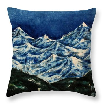 Mountain-2 Throw Pillow
