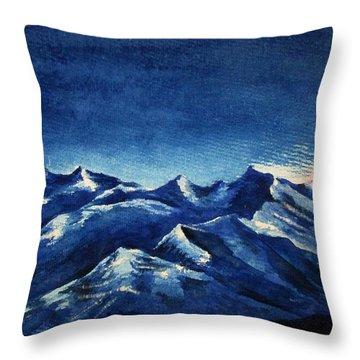 Mountain-4 Throw Pillow