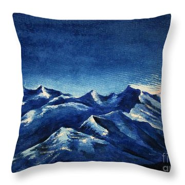 Mountain-4 Throw Pillow
