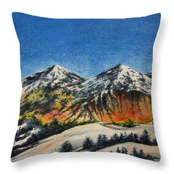Mountain-5 Throw Pillow